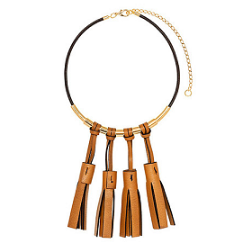 Marni Fall 2013 Leather Multi-Tassel Necklace
