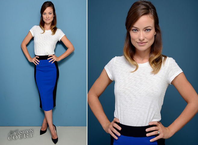 Olivia Wilde Rag and Bone & Michael Kors | 'Third Person' Press Conference - 2013 Toronto International Film Festival