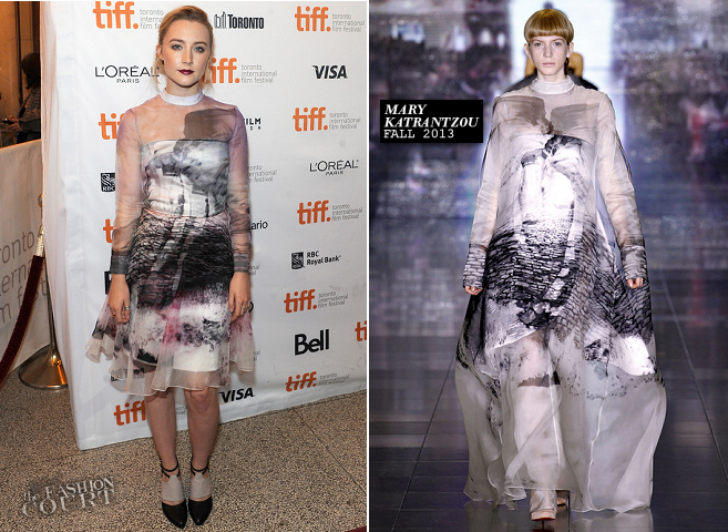 Saoirse Ronan in Mary Katrantzou | 'How I Live Now' Premiere - 2013 Toronto International Film Festival