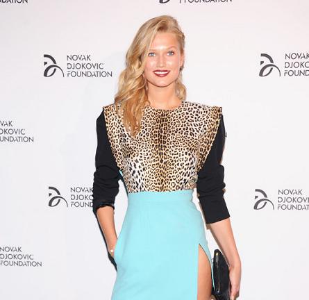 Toni Garrn in Emanuel Ungaro | Novak Djokovic Foundation New York Dinner