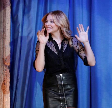 Chloe Moretz in Saint Laurent   'Late Night with Jimmy Fallon'
