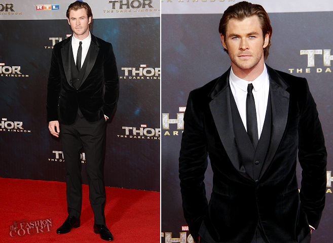 Chris Hemsworth in Dolce & Gabbana | 'Thor: The Dark World' Berlin Premiere
