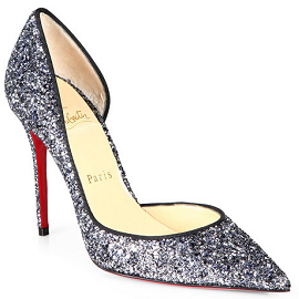 Christian Louboutin Iriza Pointed-Toe d'Orsay Glitter Pumps