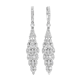 Demarco Diamond Cluster Drop Earrings