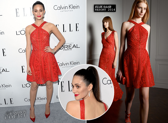 Emmy Rossum in Elie Saab | ELLE Women In Hollywood Celebration 2013