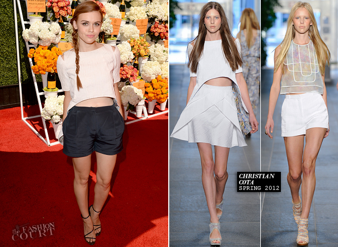 Holland Roden in Christian Cota | 4th Annual Veuve Clicquot Polo Classic