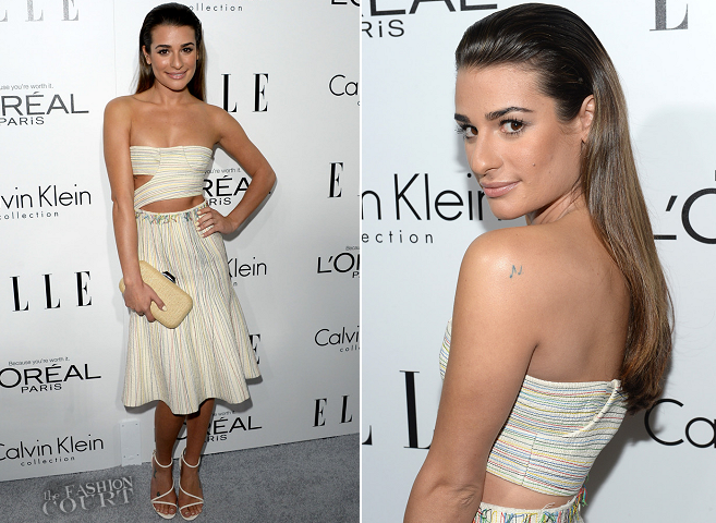 Lea Michele in Calvin Klein | ELLE Women In Hollywood Celebration 2013