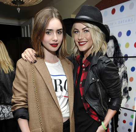 Lily Collins in Lovers + Friends & Zara | 30 Seconds To Mars: 'Love, Lust, Faith and Dreams' Tour Celebration