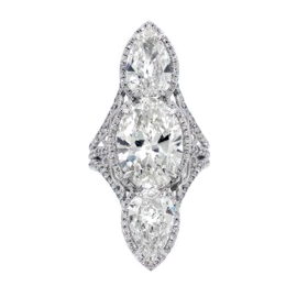 Norman Silverman Diamond Knuckle Ring