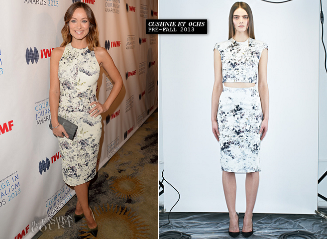 Olivia Wilde in Cushnie et Ochs | IWMF 2013 Courage in Journalism Awards 2013
