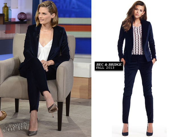Stana Katic in Bec & Bridge and Alice & Olivia | 'Good Morning America'