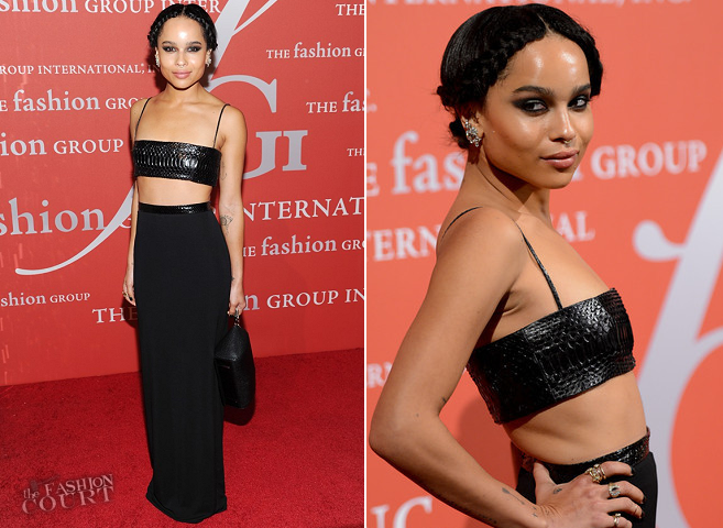 Zoe Kravitz in Alexander Wang | Night Of Stars 2013