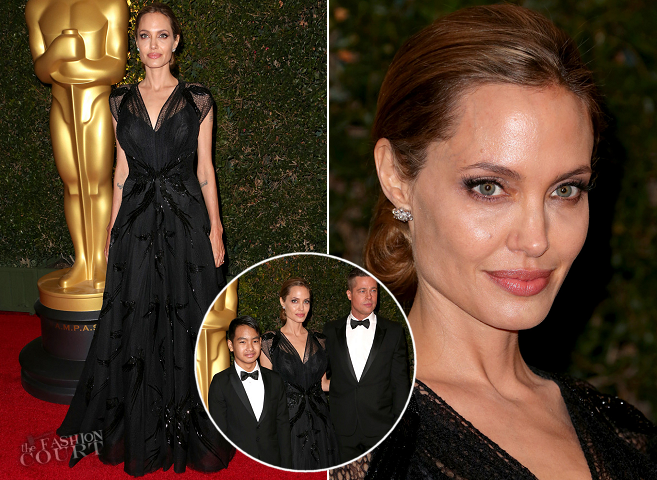 Angelina Jolie in Atelier Versace | 2013 AMPAS Governors Awards