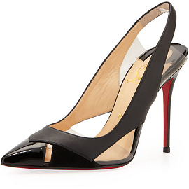 Christian Louboutin AIR CHANCE Peekaboo Slingback Pumps