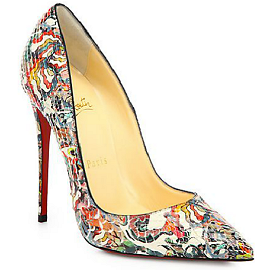 Christian Louboutin SO KATE Art Print Pumps