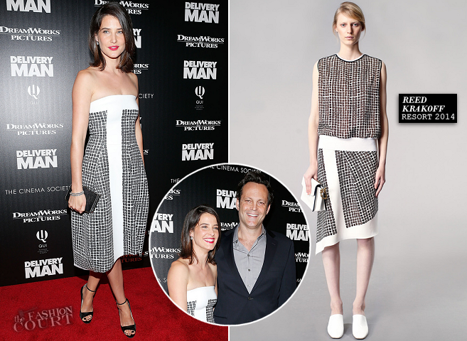 Cobie Smulders in Reed Krakoff | 'Delivery Man' NYC Screening