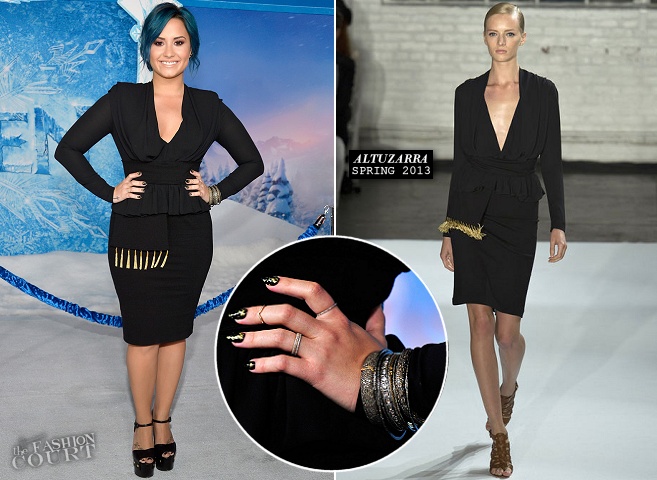 Demi Lovato in Alutzarra | Disney's 'Frozen' Hollywood Premiere