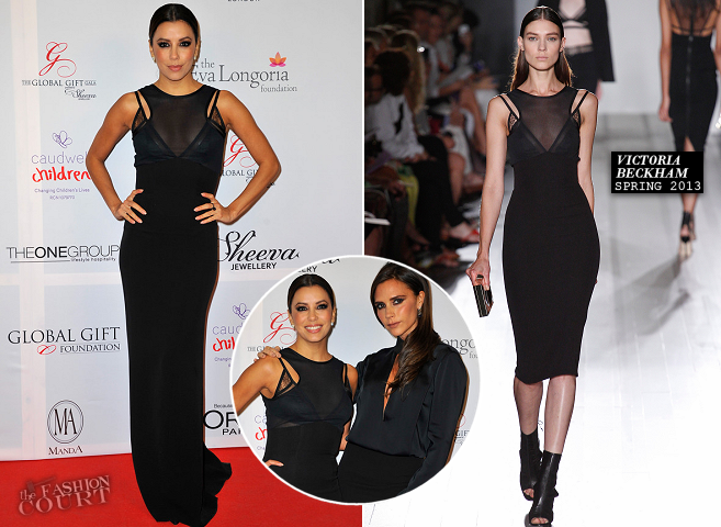 Eva Longoria in Victoria Beckham | London Global Gift Gala 2013