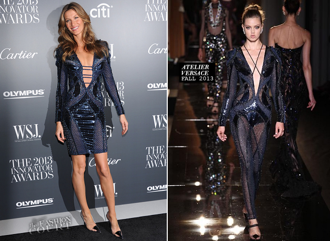 Gisele Bündchen in Atelier Versace | WSJ. Magazine's 'Innovator Of The Year' Awards 2013