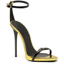 Giuseppe Zanotti Spring 2014 Metallic Accent Ankle Strap Sandals