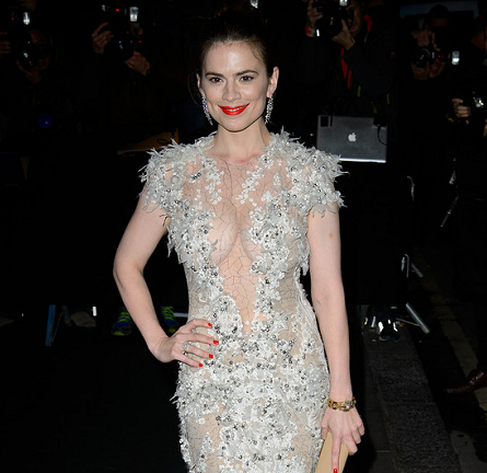 Hayley Atwell in Julien Macdonald | 2013 London Evening Standard Theatre Awards