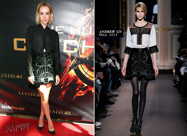 Jena Malone in Andrew Gn | 'The Hunger Games: Catching Fire' Victory Mall Tour