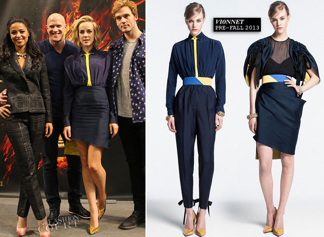 Jena Malone in Vionnet | 'The Hunger Games: Catching Fire' Victory Mall Tour - Mall of America