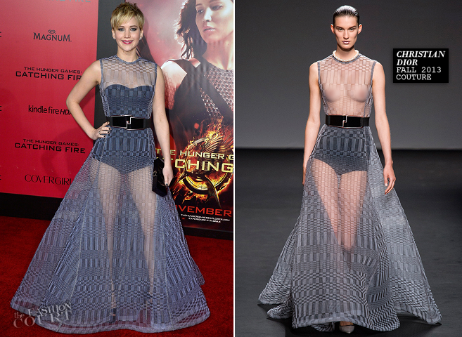 Jennifer Lawrence in Christian Dior Couture | 'The Hunger Games: Catching Fire' LA Premiere