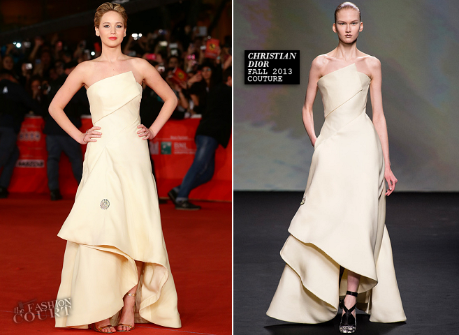 Jennifer Lawrence in Christian Dior Couture | 'The Hunger Games: Catching Fire' Premiere - Rome Film Festival 2013