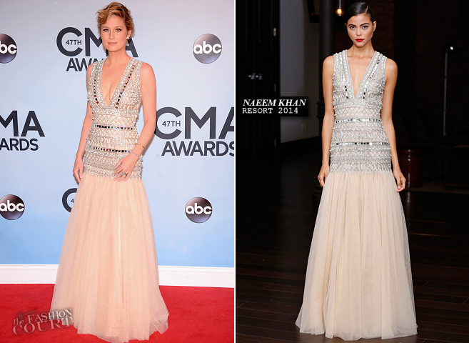 Jennifer Nettles in Naeem Khan | 2013 CMA Awards