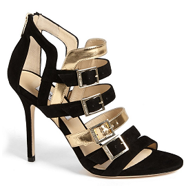 Jimmy Choo BRONX Metallic Strappy Suede Sandals