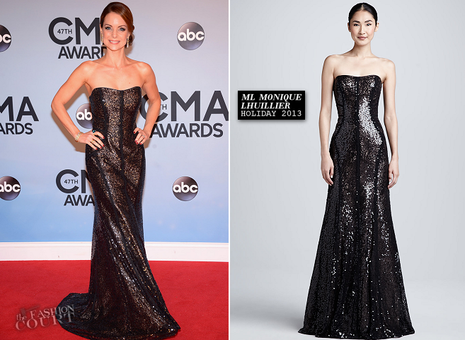 Kimberly Williams-Paisley in ML Monique Lhuillier | 2013 CMA Awards