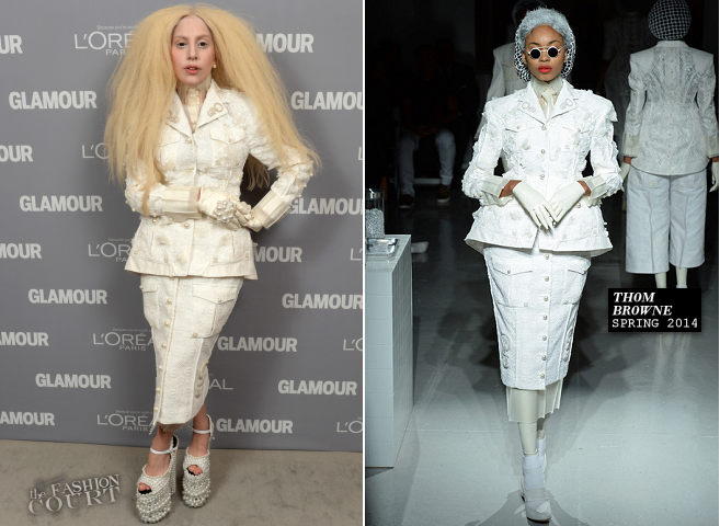 Lady Gaga in Thom Browne | Glamour Magazine's Women Of The Year Gala 2013