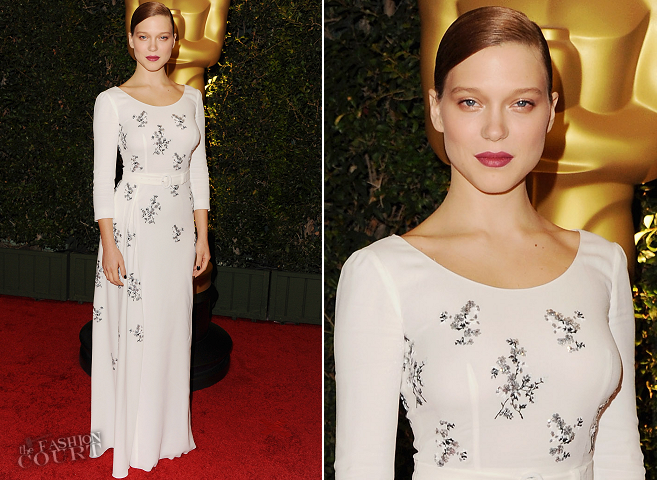 Léa Seydoux in Prada | 2013 AMPAS Governors Awards
