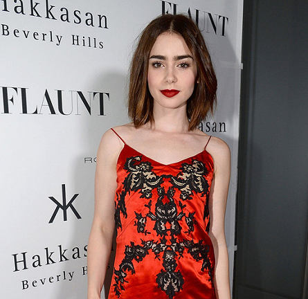 Lily Collins in Givenchy | Flaunt Magazine En Garde! Issue Launch Party