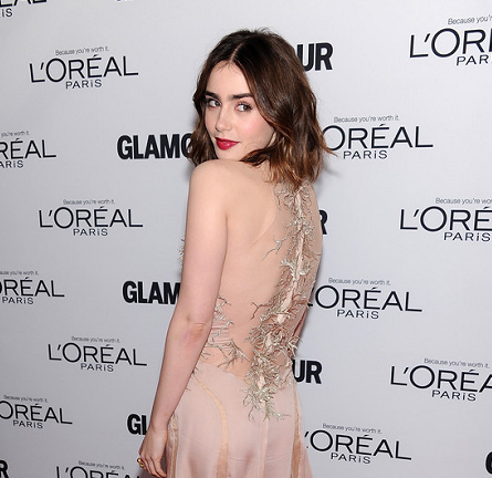 Lily Collins in Julien Macdonald | Glamour Magazine's Women Of The Year Gala 2013