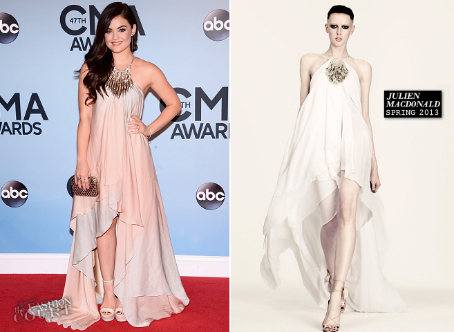 Lucy Hale in Julien Macdonald | 2013 CMA Awards