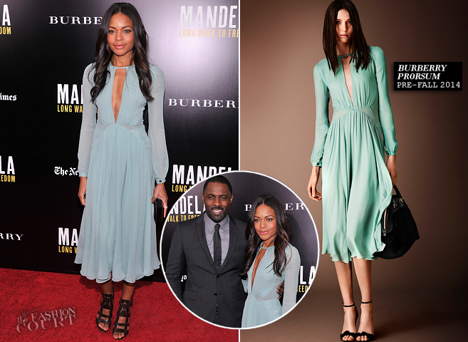 Naomie Harris in Burberry Prorsum | 'Mandela: Long Walk to Freedom' NYC Screening
