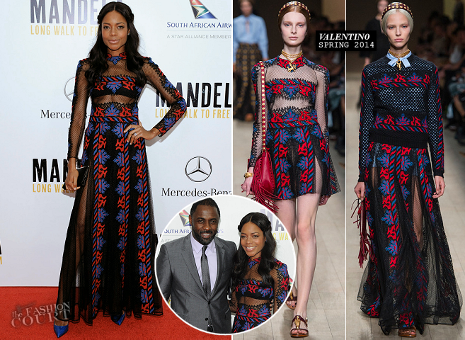 Naomie Harris in Valentino | 'Mandela: Long Walk To Freedom' NYC Premiere