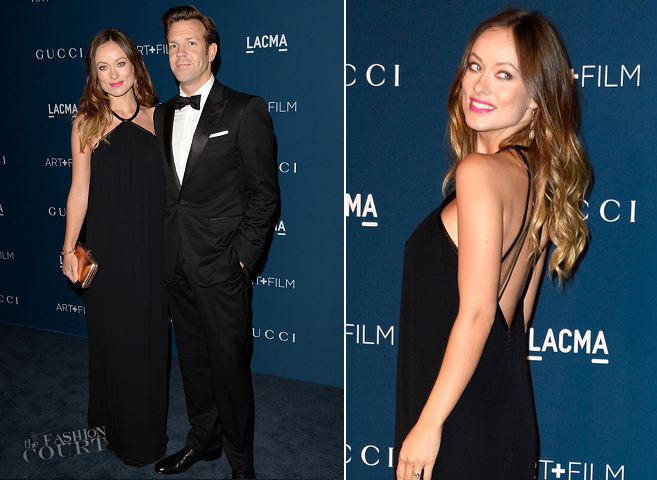 Olivia Wilde and Jason Sudeikis in Gucci | LACMA 2013 Art + Film Gala
