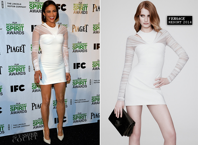 Paula Patton in Versace | 2014 Film Independent Spirit Awards Nominations Press Conference