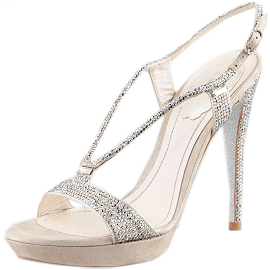 Rene Caovilla WISHBONE Crystal Sandals