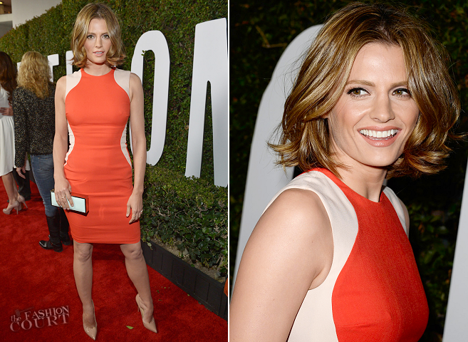 Stana Katic in Stella McCartney | 'Mandela: Long Walk To Freedom' LA Premiere
