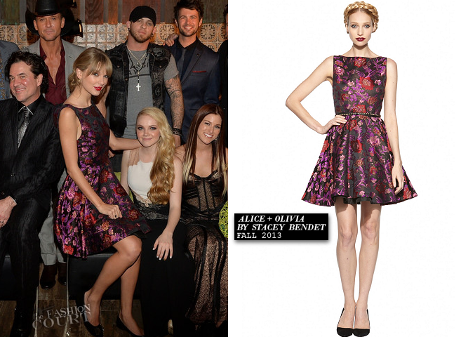 Taylor Swift in Alice + Olivia | Big Machine Label Group's CMA Awards 2013 After Party