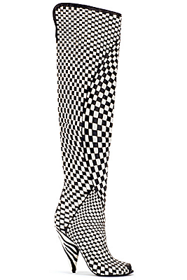TOM FORD Fall 2013 Checkered Over The Knee Boots