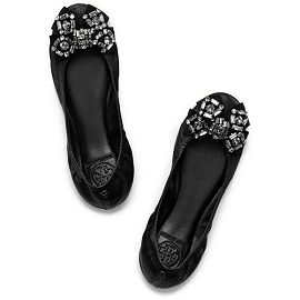Tory Burch Azalea Ballet Flat with Crystals