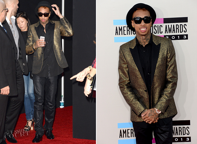 Tyga in Saint Laurent | 2013 American Music Awards