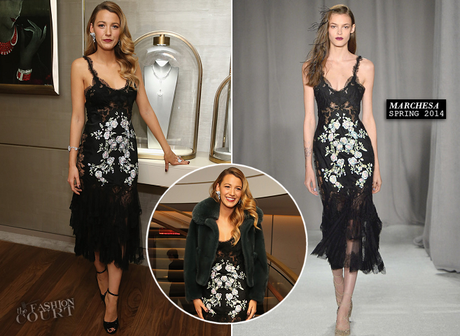 Blake Lively in Marchesa | Van Cleef & Arpels NY 5th Avenue Flagship Redesigned Celebration