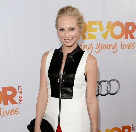 Candice Accola in Alexander Wang & Theory | Trevor LIVE! 2013