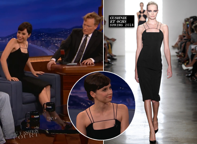 Felicity Jones in Cushnie et Ochs | 'CONAN'